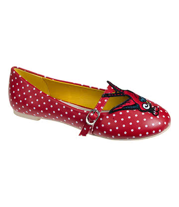 Banned Mercy Flat Shoes (Red)