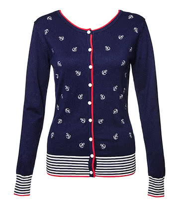 Banned Close Call Cardigan (Navy)