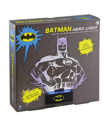 Lámpara DC Comics Batman Hero Light (Negro)