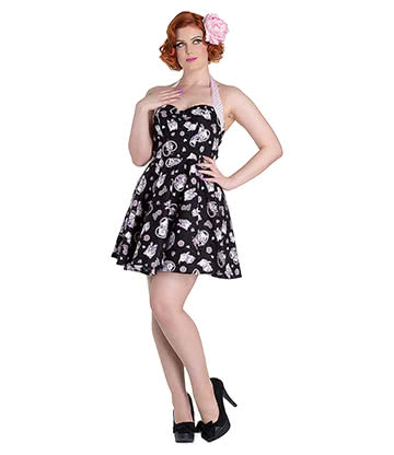 Hell Bunny Amelia Mini Dress (Black)