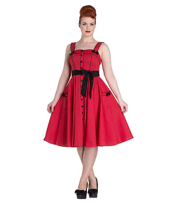 Hell Bunny Martie 50's Dress (Red)