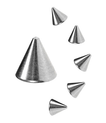 Blue Banana Surgical Steel Cone Add On Accessory (Silver)