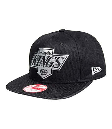 New Era LA Kings Ballistic Snapback Hat (Black)