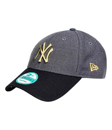 New Era NY Hat (Grey/Black)