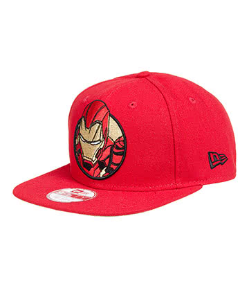New Era Iron Man Retroflect 9Fifty Snapback Hat (Red)