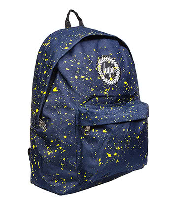 Hype Speckle Backpack (Navy/Yellow)