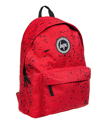 Hype Speckle Backpack (Red/Black)