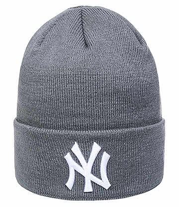 New Era NY Yankees Essential Beanie (Grey)