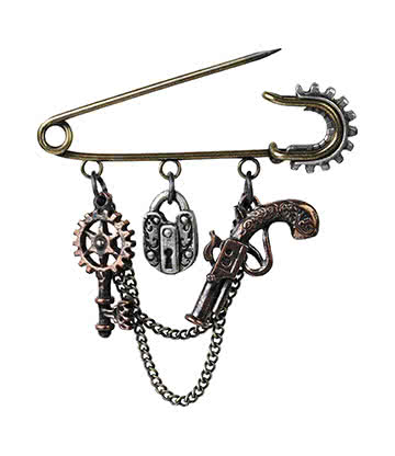 Alchemy Gothic Artificer's Utility Kilt Pin