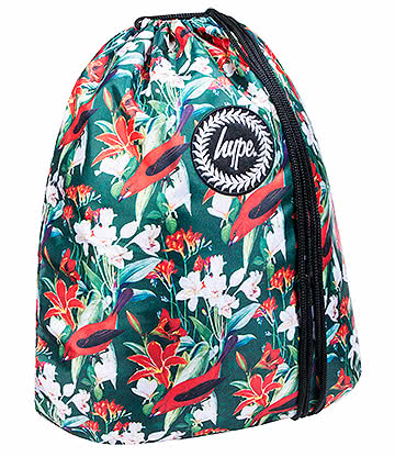 Hype Red Blossom Crest Gym Bag (Multicoloured)