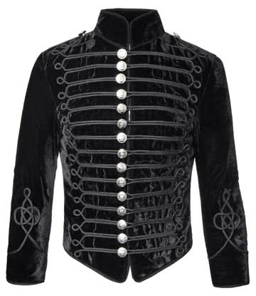 Phaze Cavalry Velvet Military Jacket (Black)