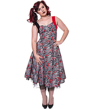 Poizen Industries Harley Quinn Ha Ha Dress (Multi)