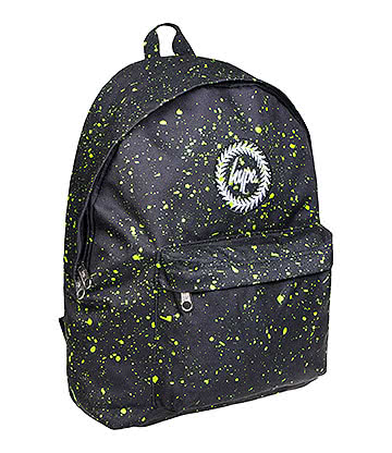 Hype Speckle Backpack (Black/Neon Green)