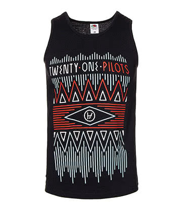 Official Twenty One Pilots Zig Zag Vest (Black)