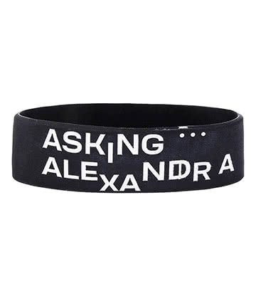 Official Asking Alexandria The Black Wristband (Black)