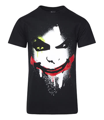 DC Comics Batman Joker Face T Shirt (Black)