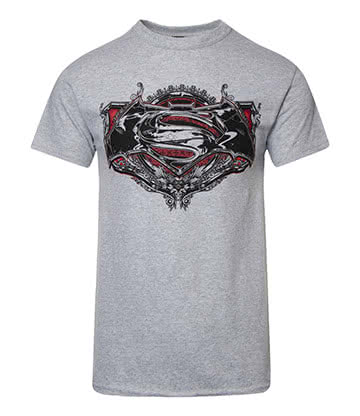 DC Comics Batman V Superman Gothic T Shirt (Grey)