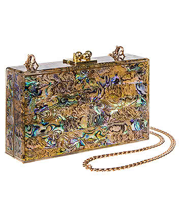 Blue Banana Abelone Box Clutch Bag (Multicoloured)