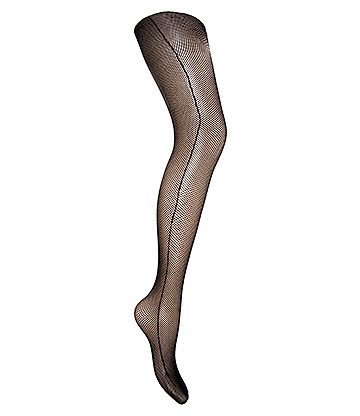 Blue Banana Fishnet & Seam Tights (Black)