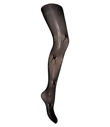 Blue Banana Ribbon Tights (Black)