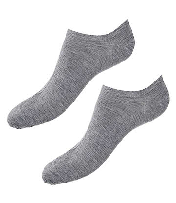 Blue Banana Trainer Socks (Grey)