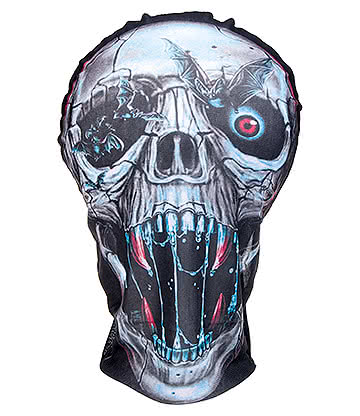 Blue Banana Mesh Skull Mask (Multicoloured)