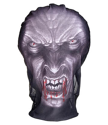 Blue Banana Mesh Vampire Mask (Multi)
