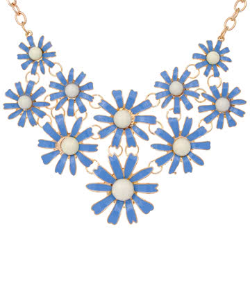 Blue Banana Daisy Necklace (Blue)