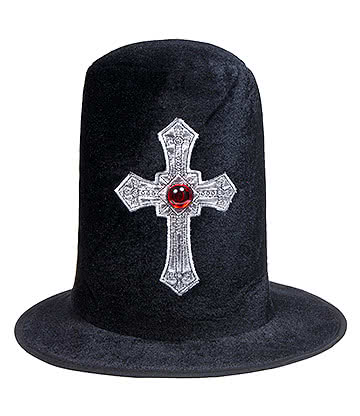 Fancy Dress Vampire Top Hat (Black)