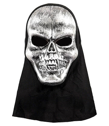 Blue Banana Skull Mask with Hood (Silver/Black)