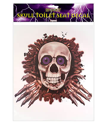 Blue Banana Skull Toilet Seat Sticker