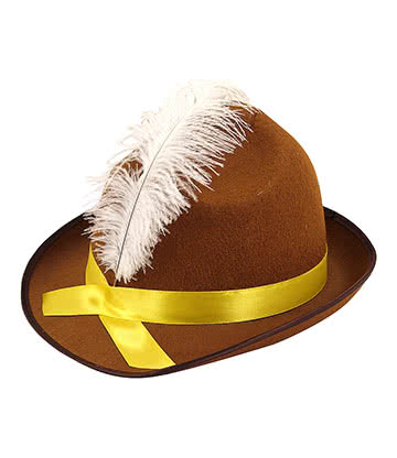 Beer Festival Fancy Dress Hat (Brown)