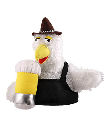 Novelty Bird & Beer Fancy Dress Hat (Black)