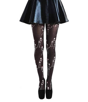 Pamela Mann Lovebones Tights (Black)