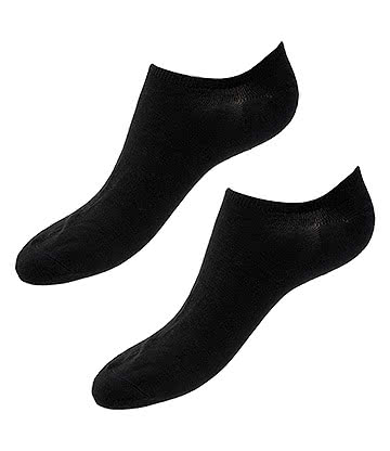 Blue Banana Trainer Socks (Black)
