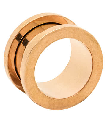 Blue Banana Surgical Steel Flesh Tunnel 4-14mm (Gold)