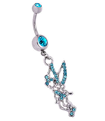 Blue Banana Fairy Navel Bar (Aqua)
