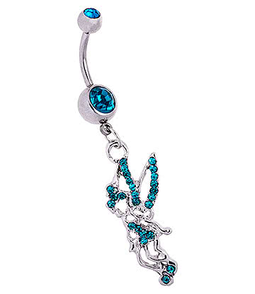 Blue Banana Surgical Steel 1.6mm Fairy Navel Bar (Zircon)