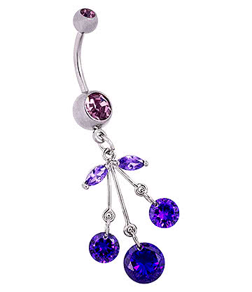 Blue Banana Cherry Navel Bar (Violet)
