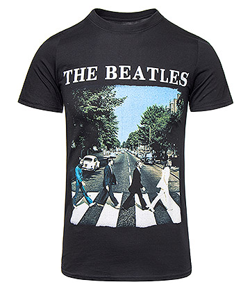 Official The Beatles Abbey Road T Shirt (Black)