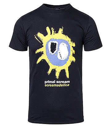 Official Primal Scream Screamadelica T Shirt (Black)