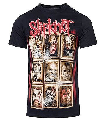 Official Slipknot New Masks T Shirt (Black)
