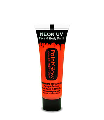 UV Face & Body Paint Paintglow (Arancione)