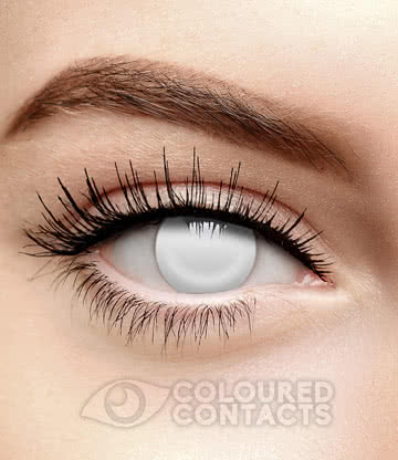 Blind Halloween 90 Day Coloured Contact Lenses (White)