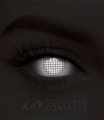 UV i-Glow Screen 90 Day Coloured Contact Lenses (White)