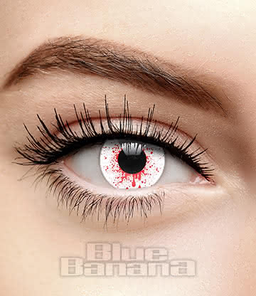 Trauma 90 Day Coloured Contact Lenses (White)