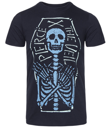 Official Pierce The Veil Skeleton Coffin T Shirt (Black)