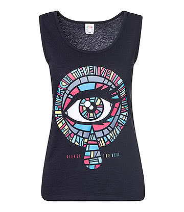 Official Pierce The Veil Eye Vest Top (Black)