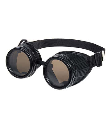 Blue Banana Steampunk Goggles (Black)