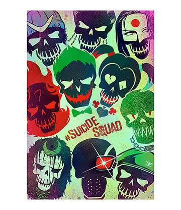 Suicide Squad Faces Poster
